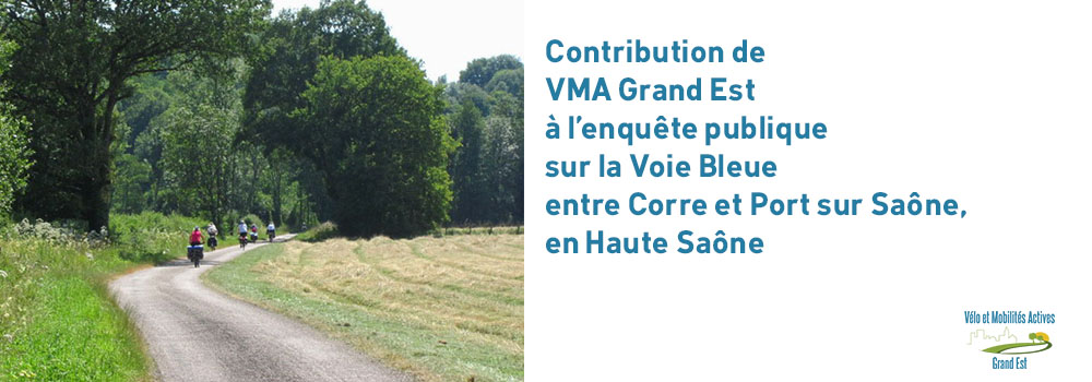 enquête publique sur la Voie Bleue entre Corre et Port sur Saône, en Haute Saône